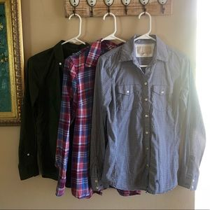 Lot of 3 shirts, XS, Gap and Banana Republic, new